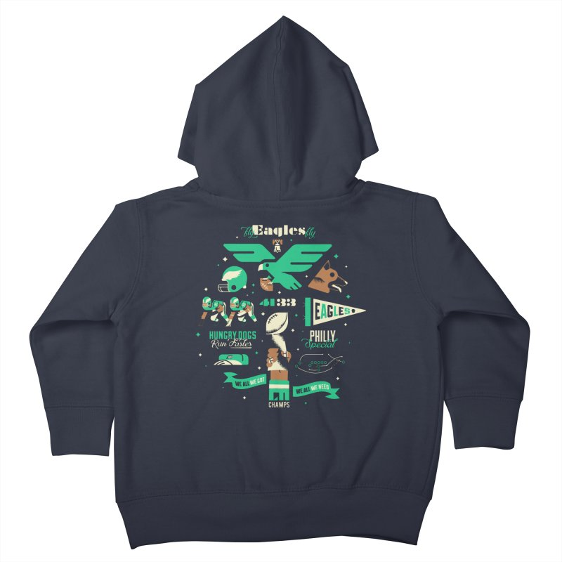 Eagles - SBLII Champs Kids Toddler Zip-Up Hoody by Erikas