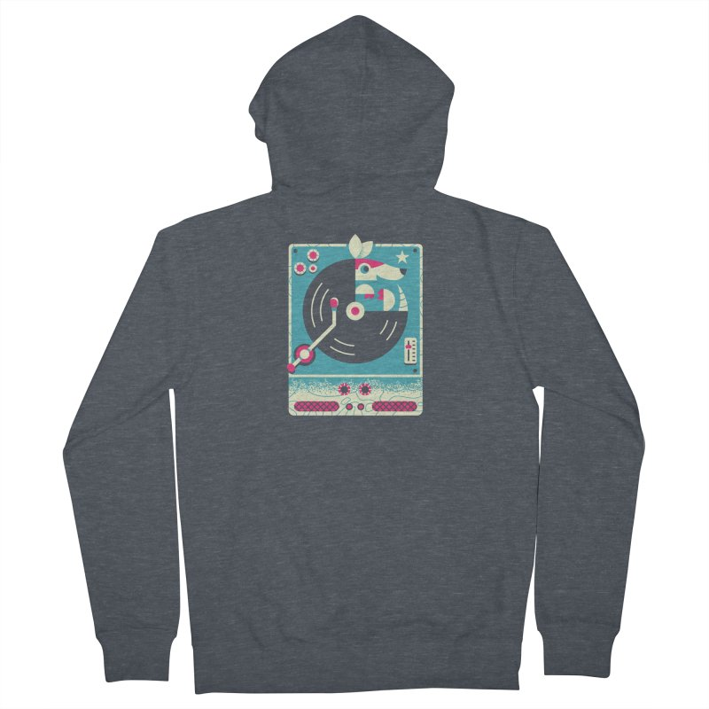The Armadillo Record Men's Zip-Up Hoody by Erikas