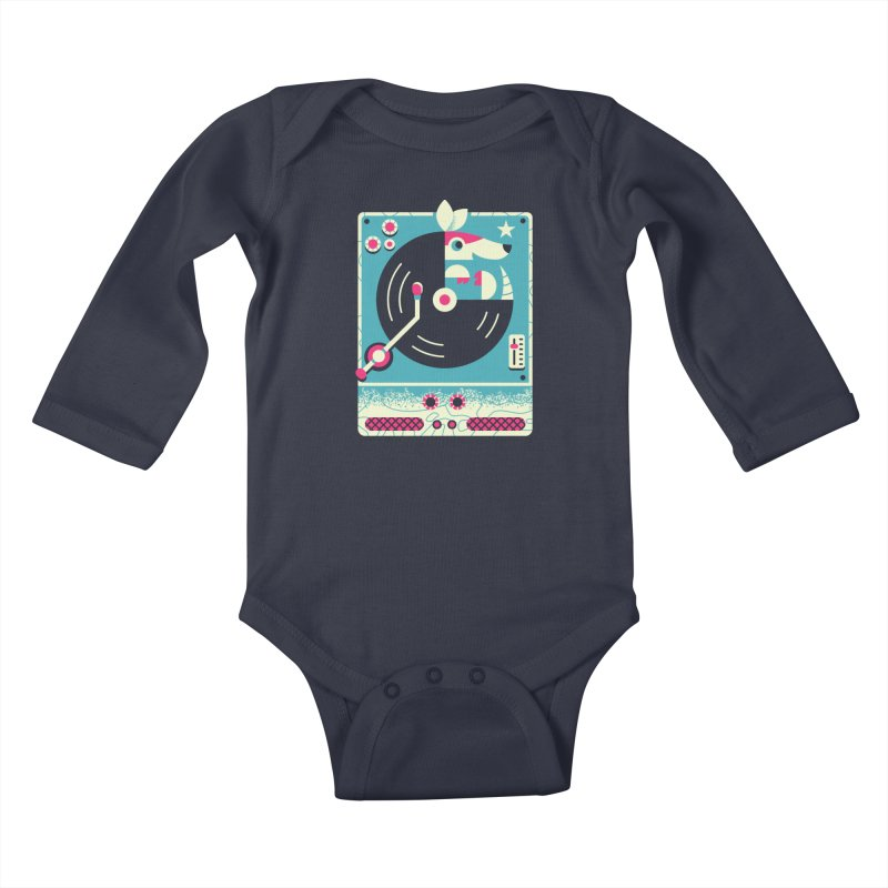 The Armadillo Record Kids Baby Longsleeve Bodysuit by Erikas