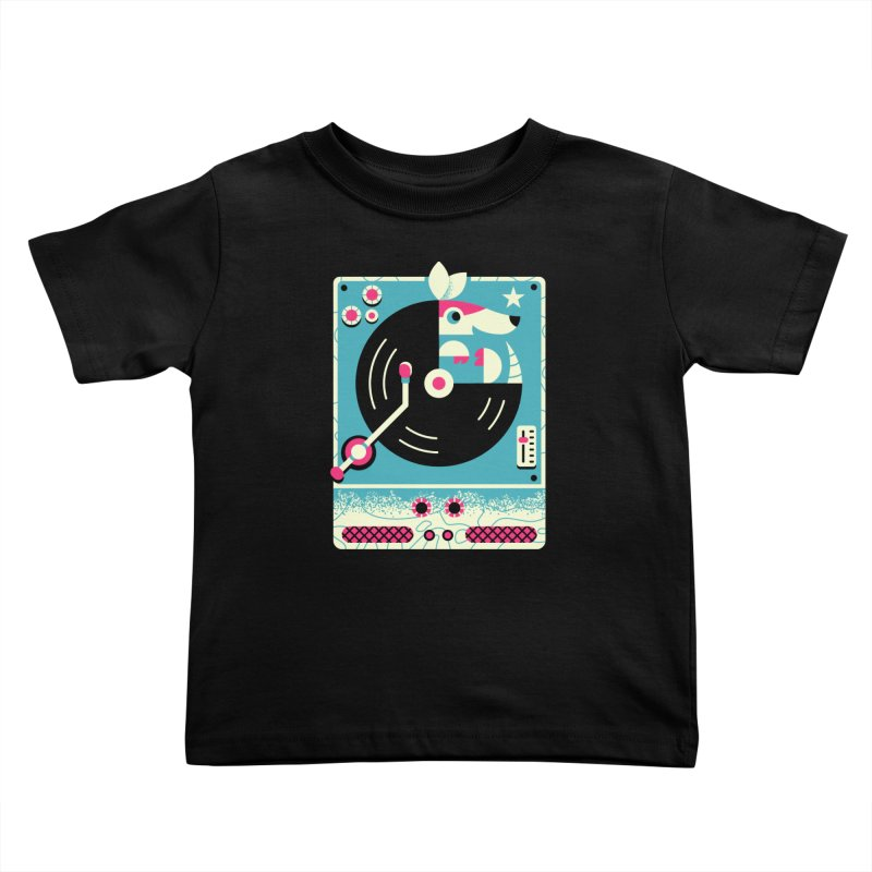 The Armadillo Record Kids Toddler T-Shirt by Erikas