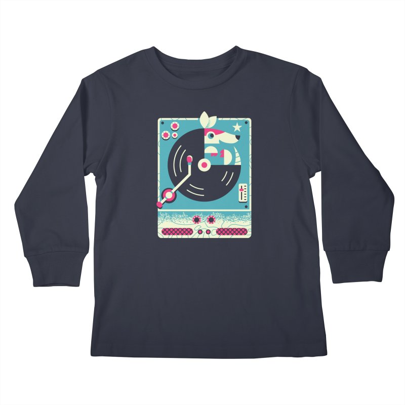 The Armadillo Record Kids Longsleeve T-Shirt by Erikas