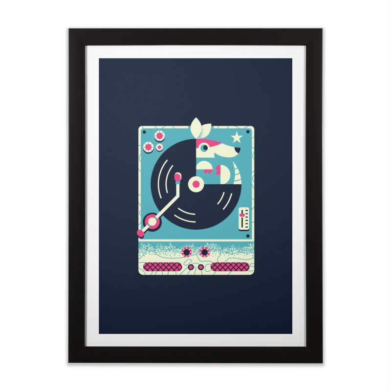 The Armadillo Record Home Framed Fine Art Print by Erikas