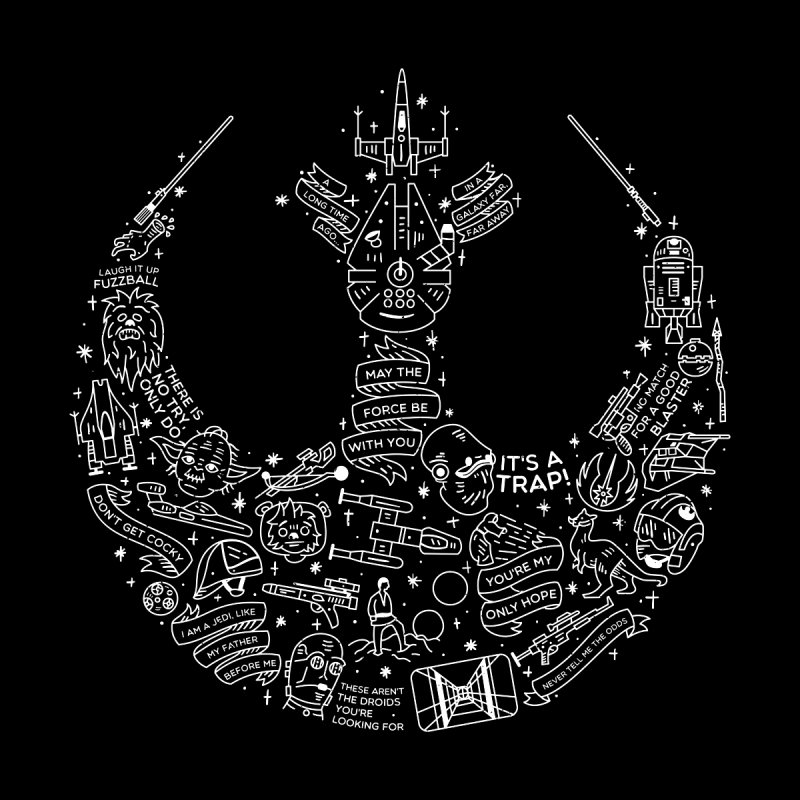 Rebel Scum Home Fine Art Print by Erikas