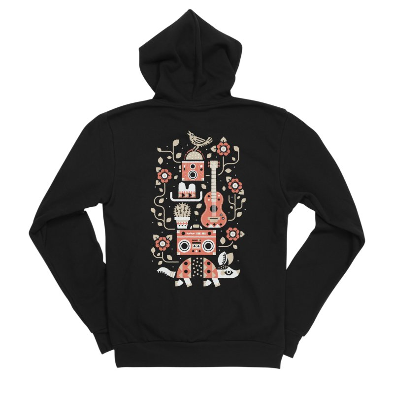 Groovy Armadillo Men's Zip-Up Hoody by Erikas