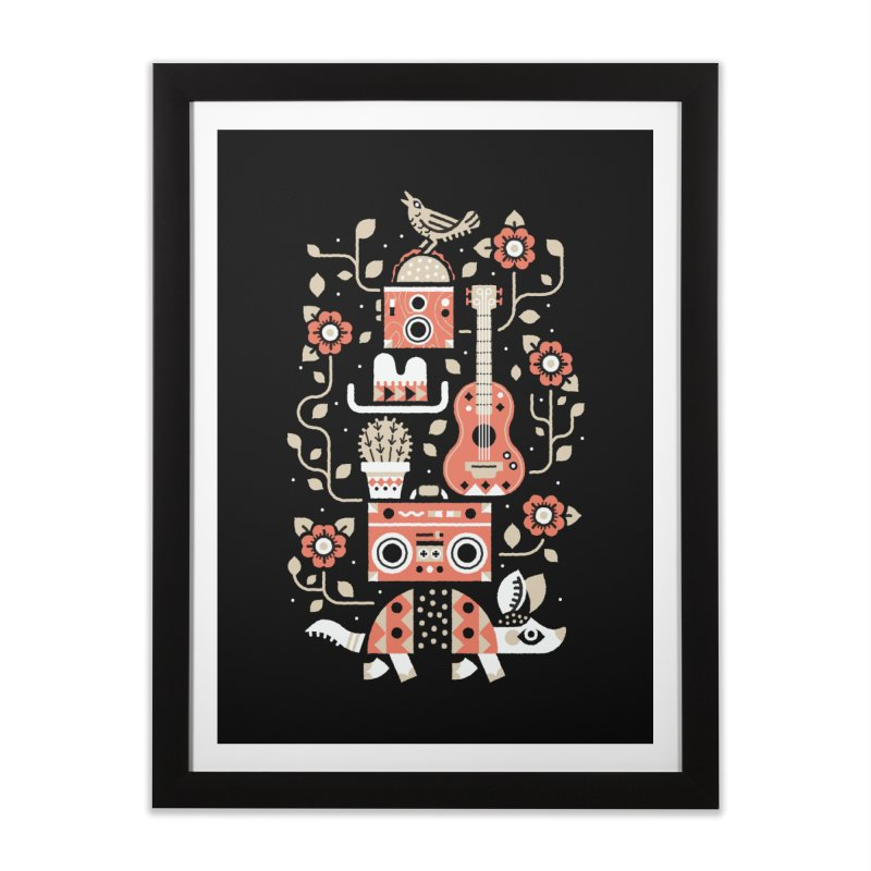 Groovy Armadillo Home Framed Fine Art Print by Erikas