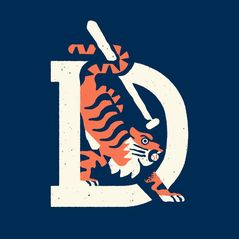 Tigers Baseball Men's T-Shirt by Erikas