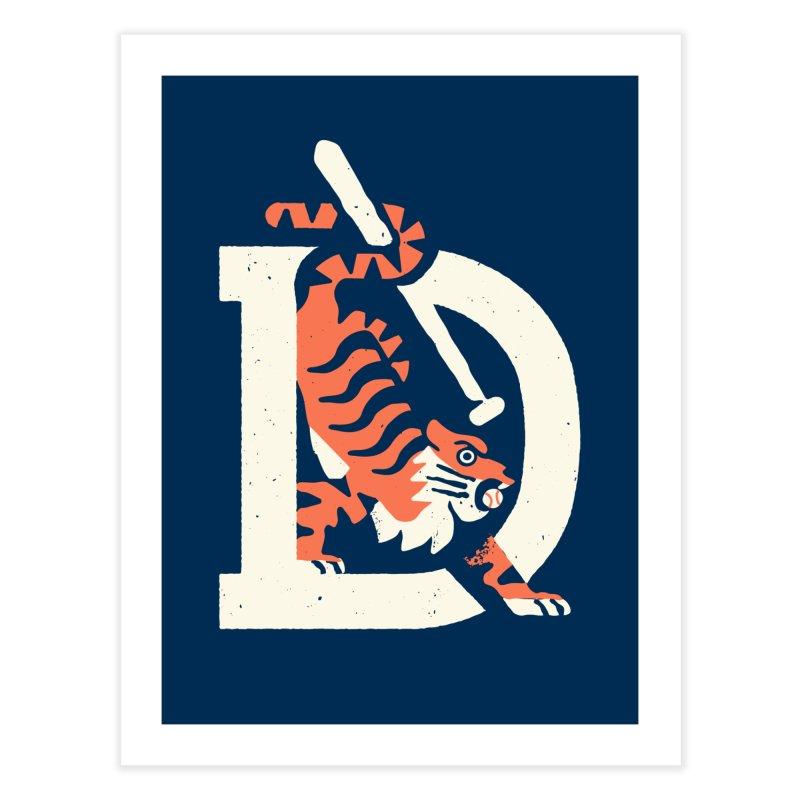 Tigers Baseball Home Fine Art Print by Erikas