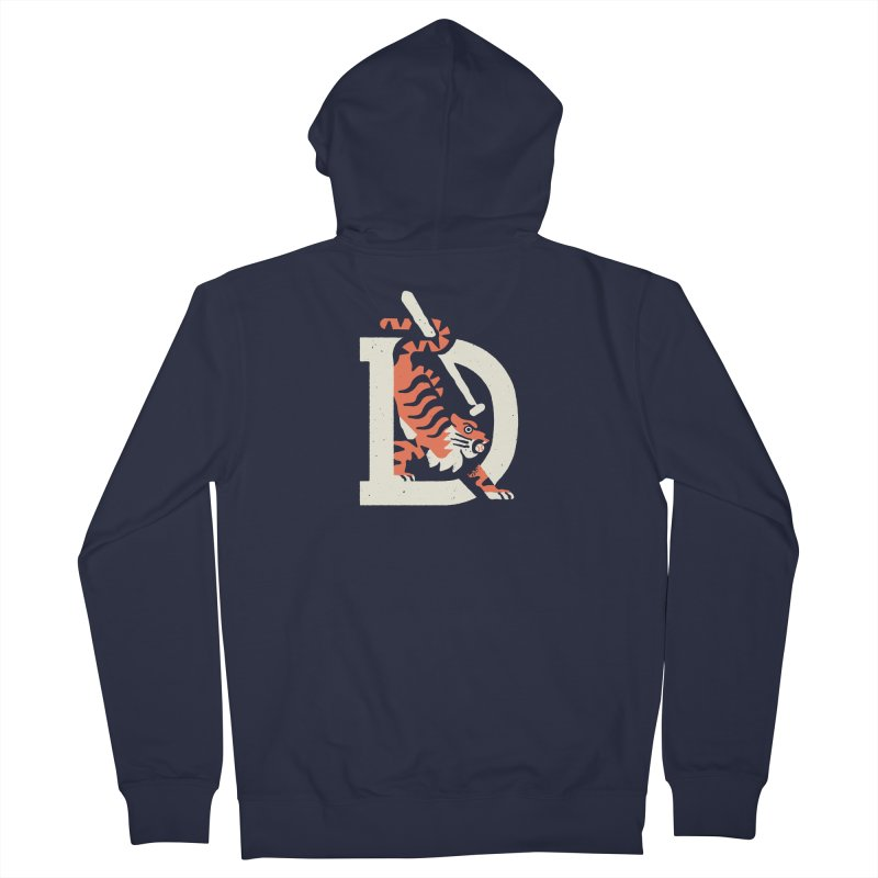 Tigers Baseball Women's Zip-Up Hoody by Erikas