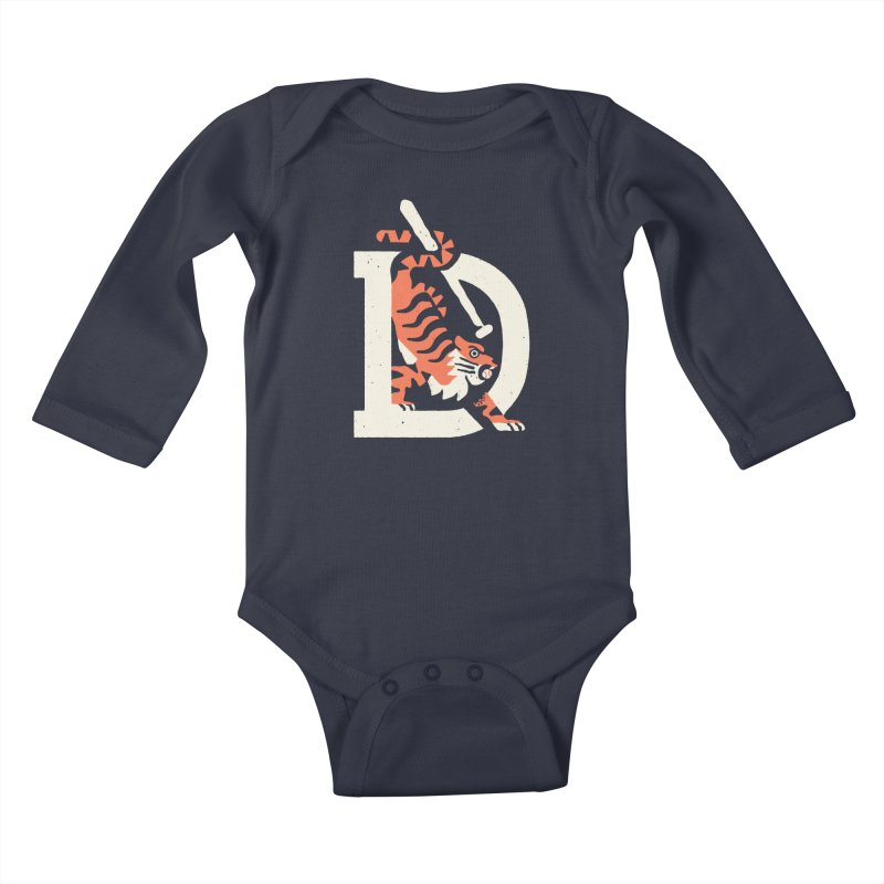 Tigers Baseball Kids Baby Longsleeve Bodysuit by Erikas