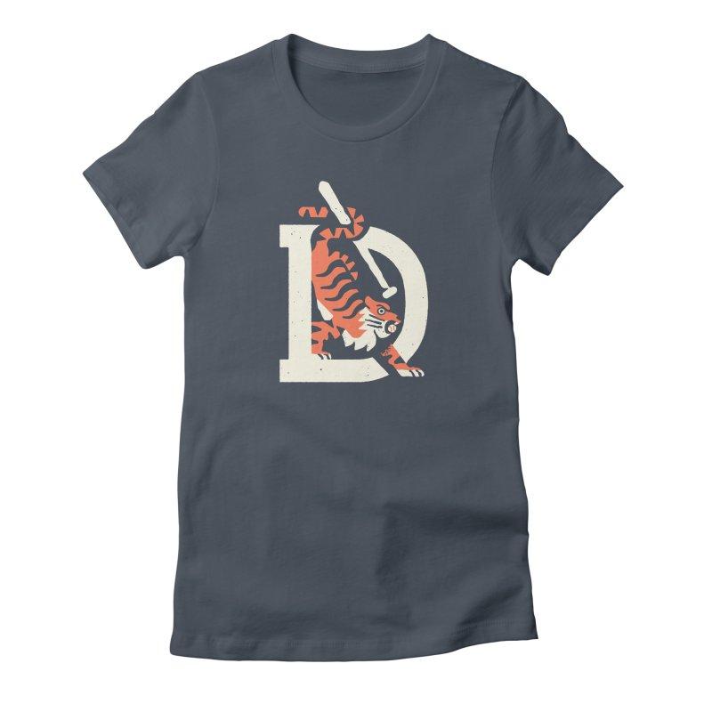 Tigers Baseball Women's T-Shirt by Erikas