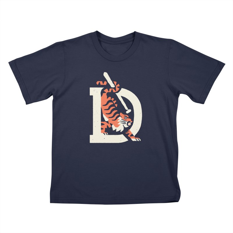 Tigers Baseball Kids T-Shirt by Erikas