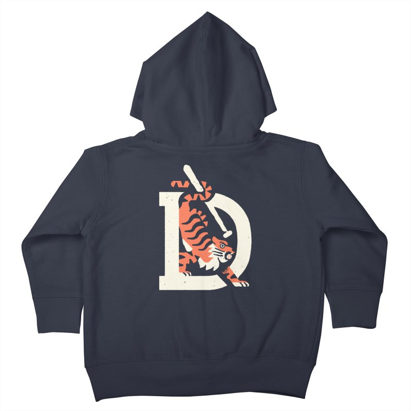 Tigers Baseball Kids Toddler Zip-Up Hoody by Erikas