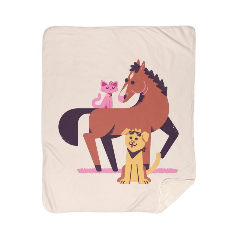 Depressed Horse & Friends Home Blanket by Erikas
