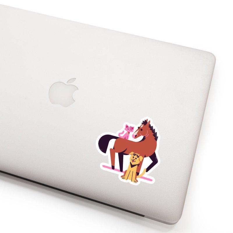 Depressed Horse & Friends Accessories Sticker by Erikas