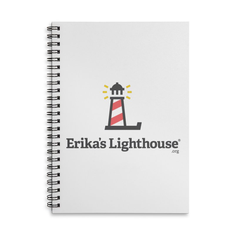 Erika's Lighthouse Accessories Lined Spiral Notebook by Erika's Lighthouse Artist Shop