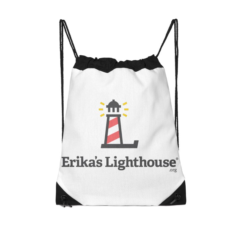 Erika's Lighthouse Accessories Drawstring Bag Bag by Erika's Lighthouse Artist Shop