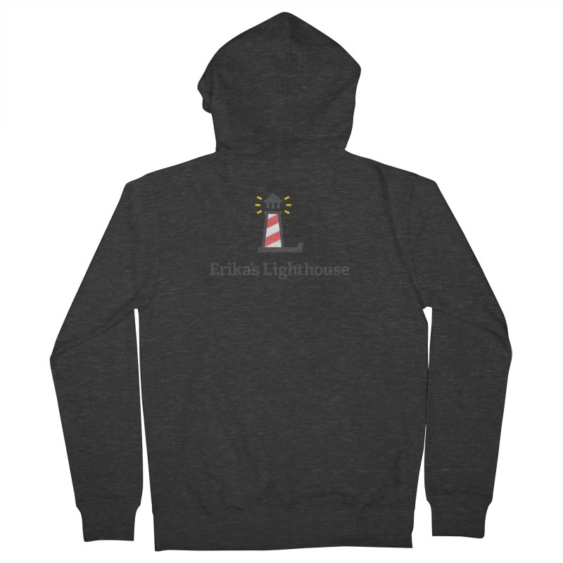 Erika's Lighthouse Men's French Terry Zip-Up Hoody by Erika's Lighthouse Artist Shop