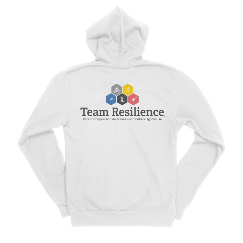 Team Resilience Men's Sponge Fleece Zip-Up Hoody by Erika's Lighthouse Artist Shop