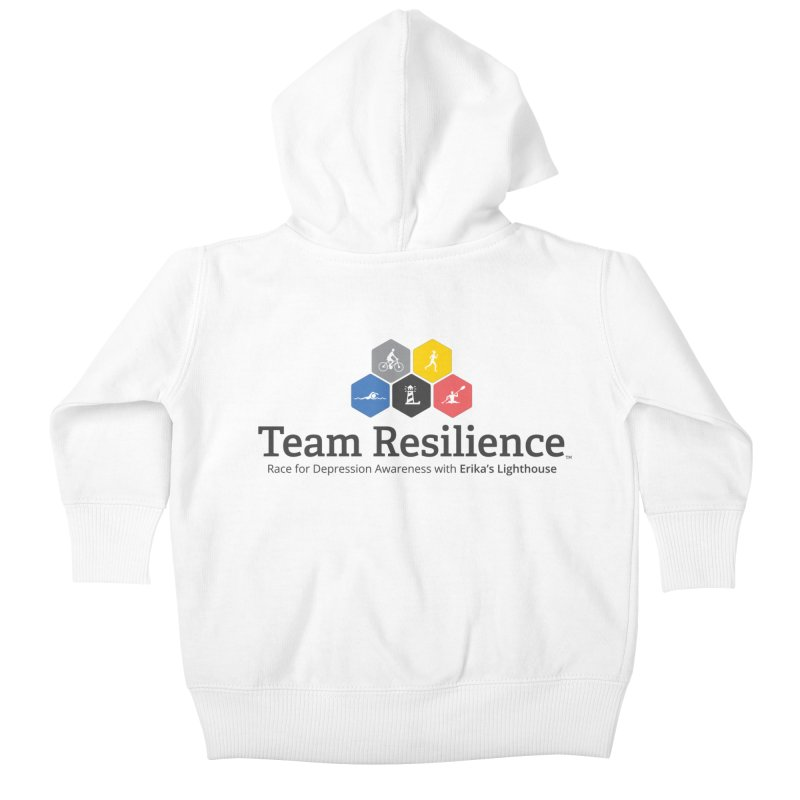 Team Resilience Kids Baby Zip-Up Hoody by Erika's Lighthouse Artist Shop