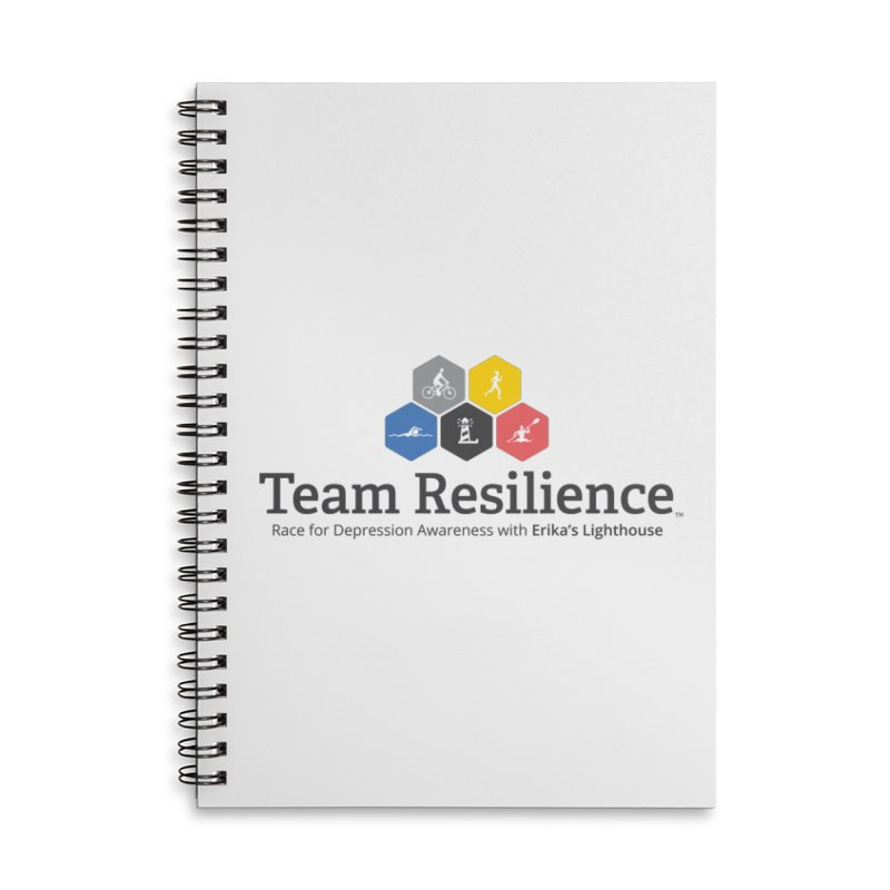 Team Resilience Accessories Lined Spiral Notebook by Erika's Lighthouse Artist Shop