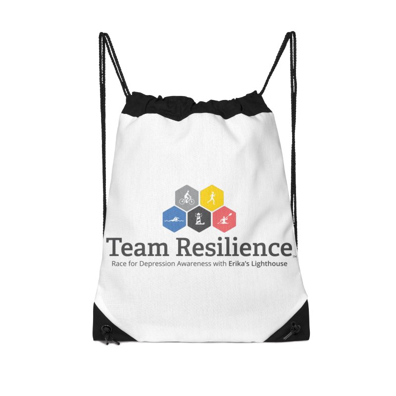 Team Resilience Accessories Drawstring Bag Bag by Erika's Lighthouse Artist Shop