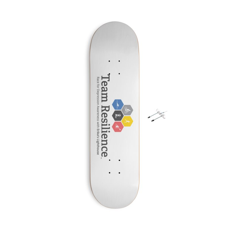 Team Resilience Accessories With Hanging Hardware Skateboard by Erika's Lighthouse Artist Shop