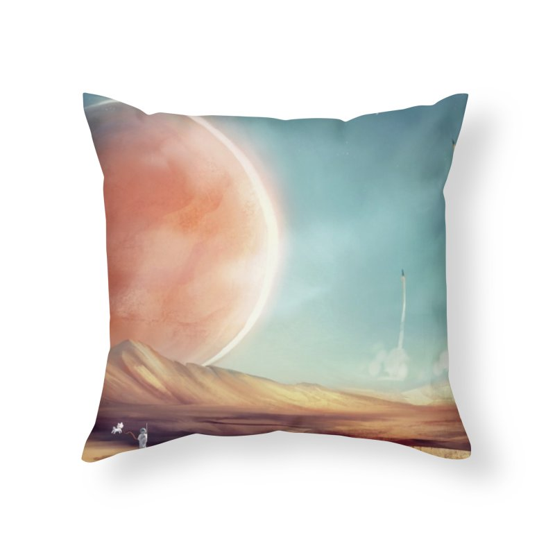 The Red Moon Home Throw Pillow by @franzeboy Artist Shop