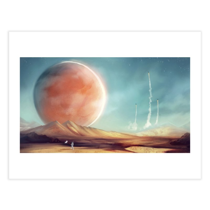 The Red Moon Home Fine Art Print by @franzeboy Artist Shop