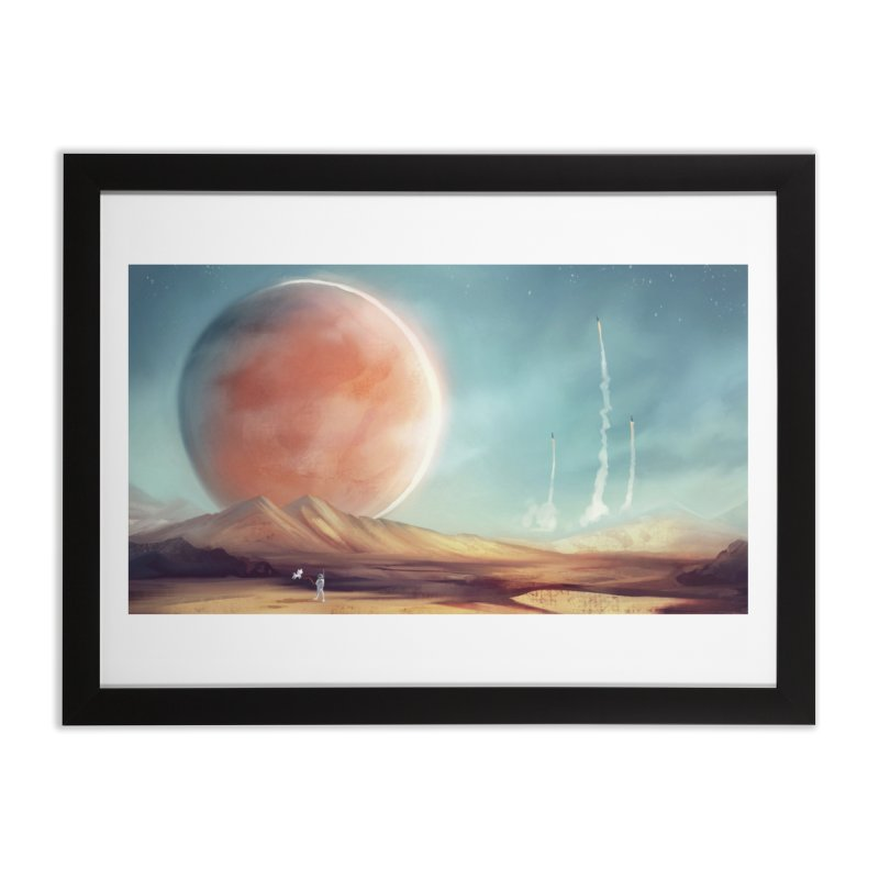 The Red Moon Home Framed Fine Art Print by @franzeboy Artist Shop