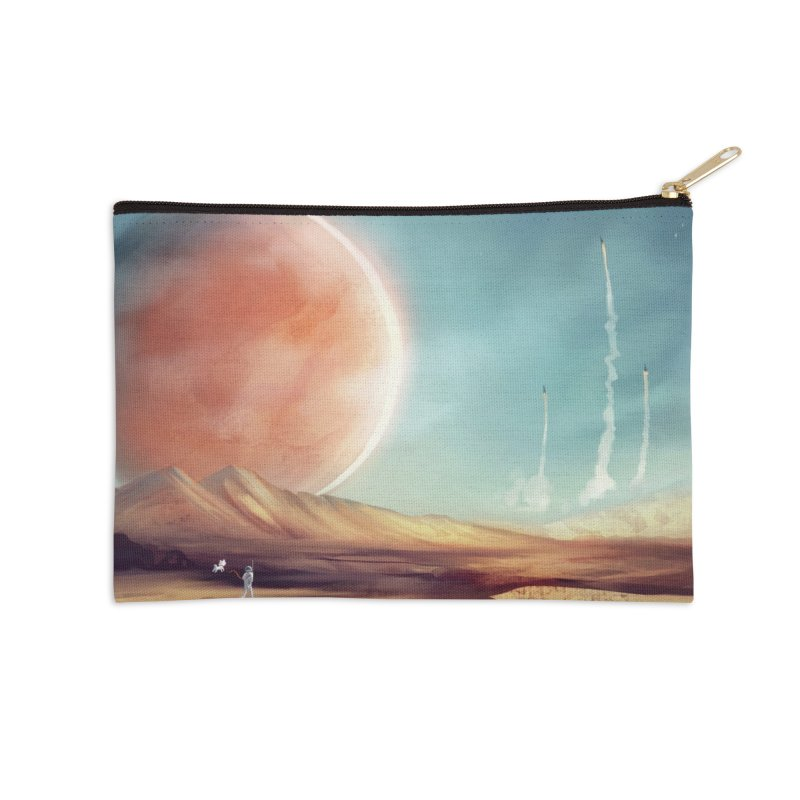 The Red Moon Accessories Zip Pouch by @franzeboy Artist Shop