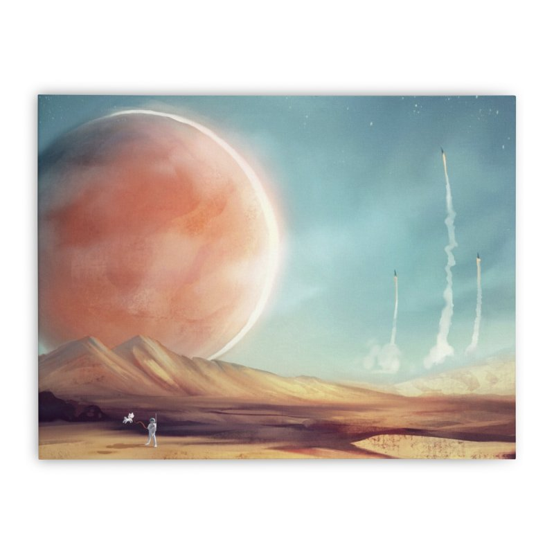 The Red Moon Home Stretched Canvas by @franzeboy Artist Shop