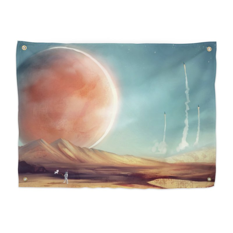 The Red Moon Home Tapestry by @franzeboy Artist Shop