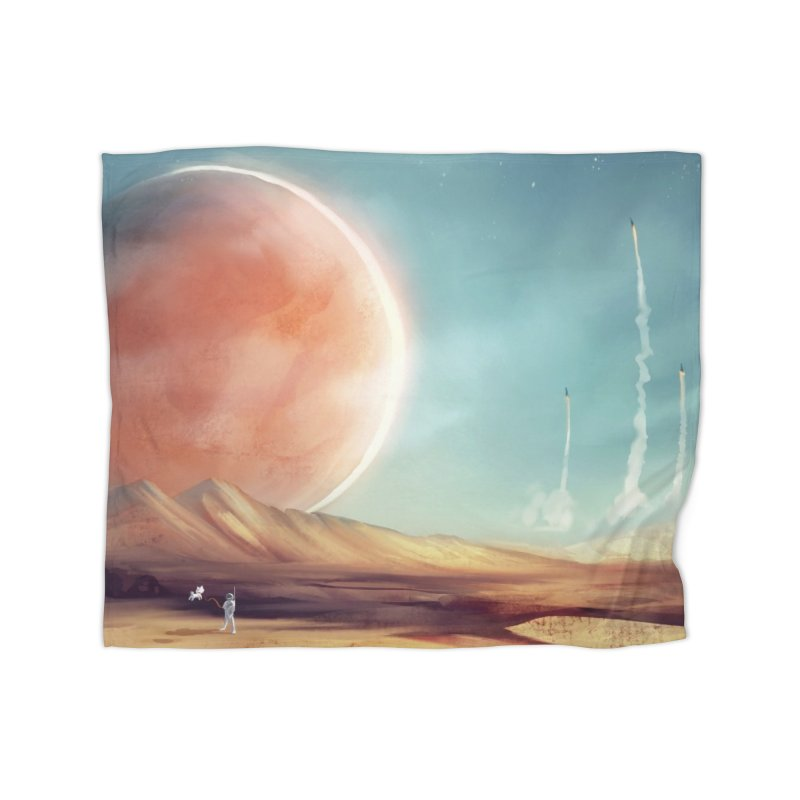 The Red Moon Home Blanket by @franzeboy Artist Shop
