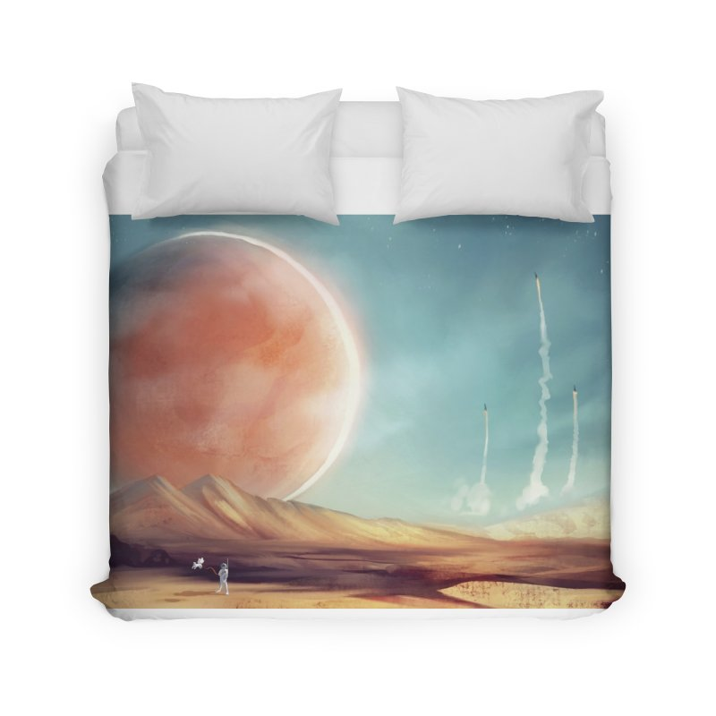 The Red Moon Home Duvet by @franzeboy Artist Shop