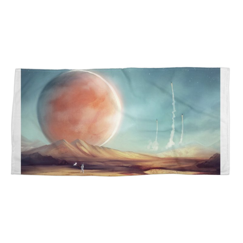The Red Moon Accessories Beach Towel by @franzeboy Artist Shop