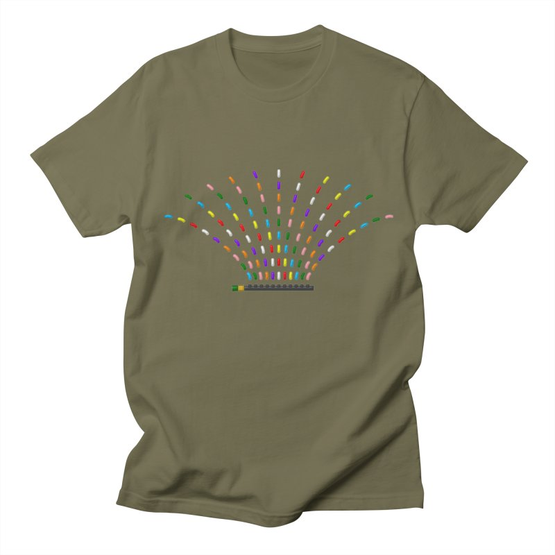 Rainbow Sprinkle-r Men's T-Shirt by Eriklectric's Artist Shop