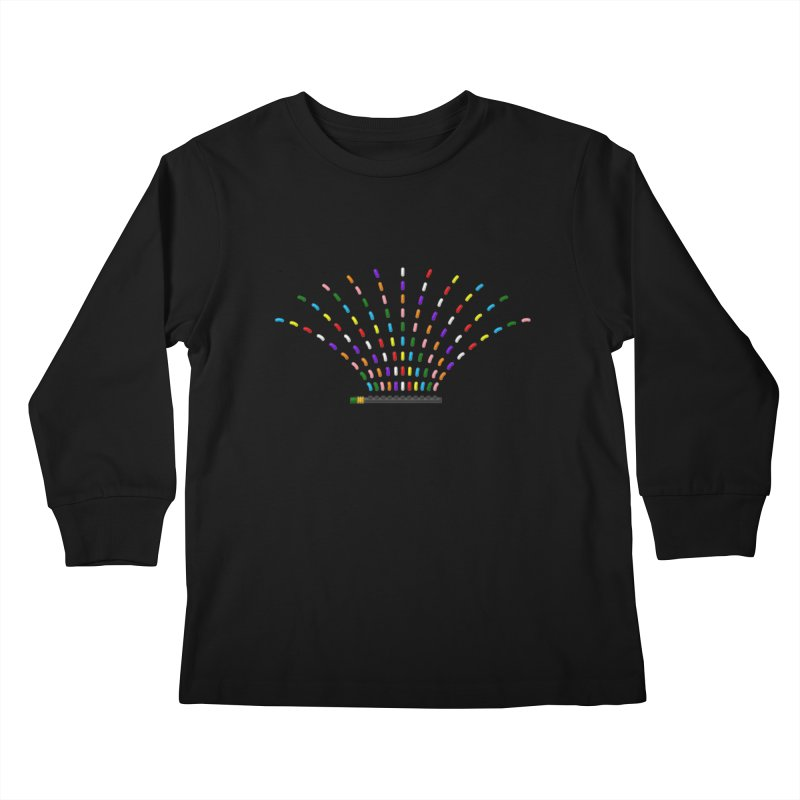 Rainbow Sprinkle-r Kids Longsleeve T-Shirt by Eriklectric's Artist Shop