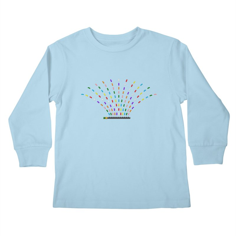 Rainbow Sprinkle-r Kids Longsleeve T-Shirt by Eriklectric's Artist Shop