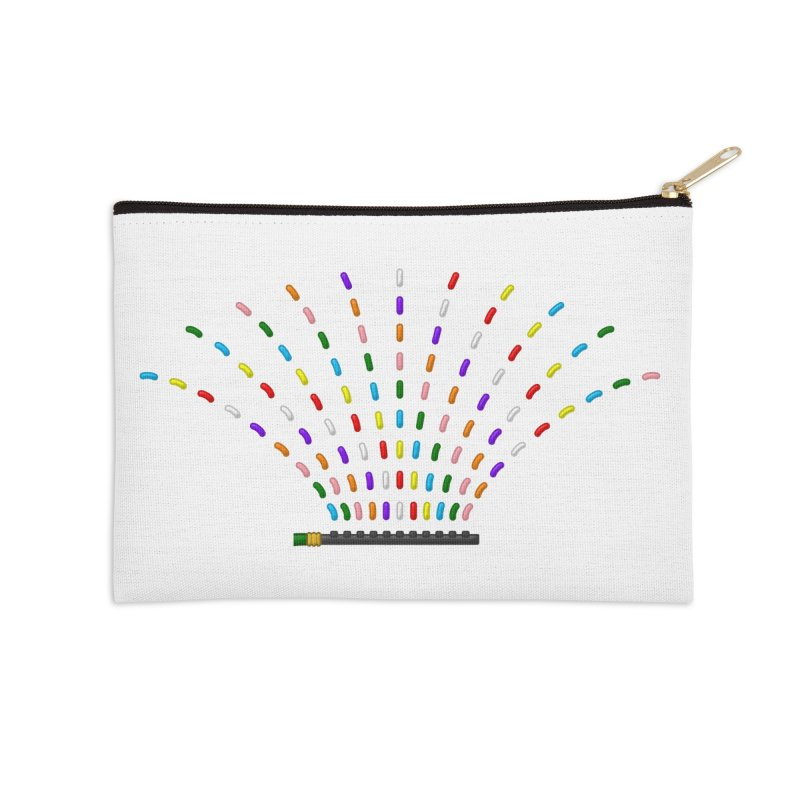Rainbow Sprinkle-r Accessories Zip Pouch by Eriklectric's Artist Shop