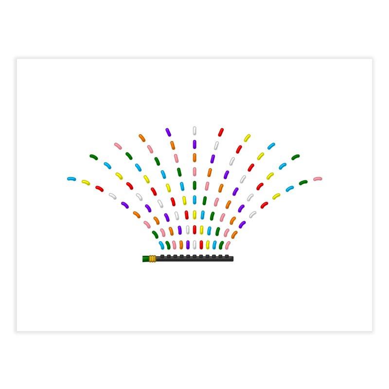 Rainbow Sprinkle-r Home Fine Art Print by Eriklectric's Artist Shop