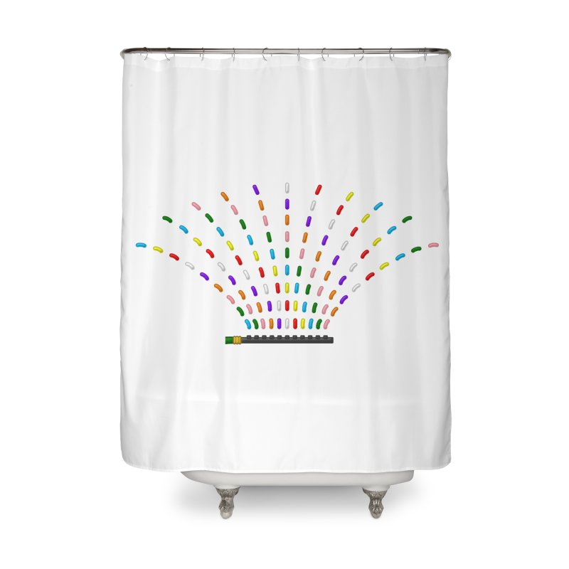 Rainbow Sprinkle-r Home Shower Curtain by Eriklectric's Artist Shop