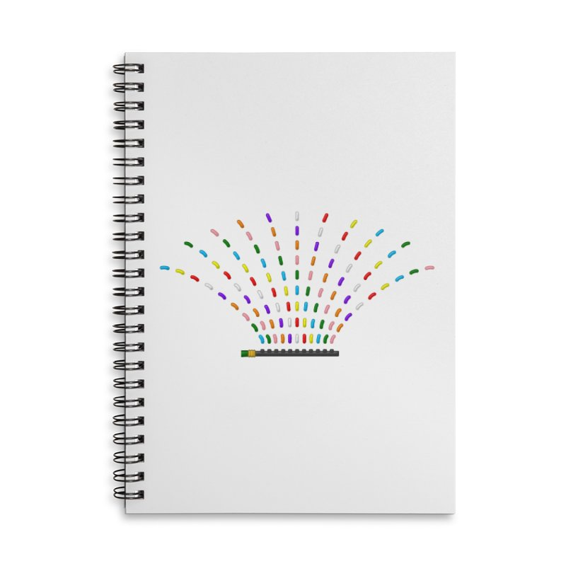 Rainbow Sprinkle-r Accessories Lined Spiral Notebook by Eriklectric's Artist Shop