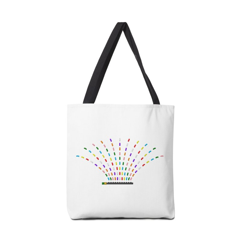 Rainbow Sprinkle-r Accessories Bag by Eriklectric's Artist Shop