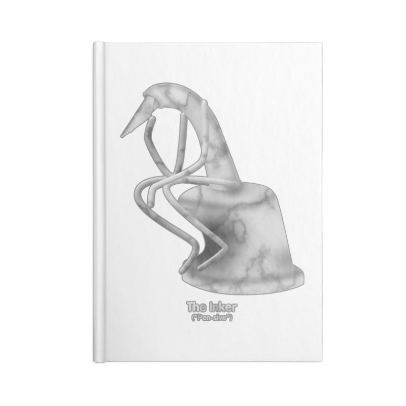 "The Inker (""Pen-sive"") Accessories Blank Journal Notebook by Eriklectric's Artist Shop"