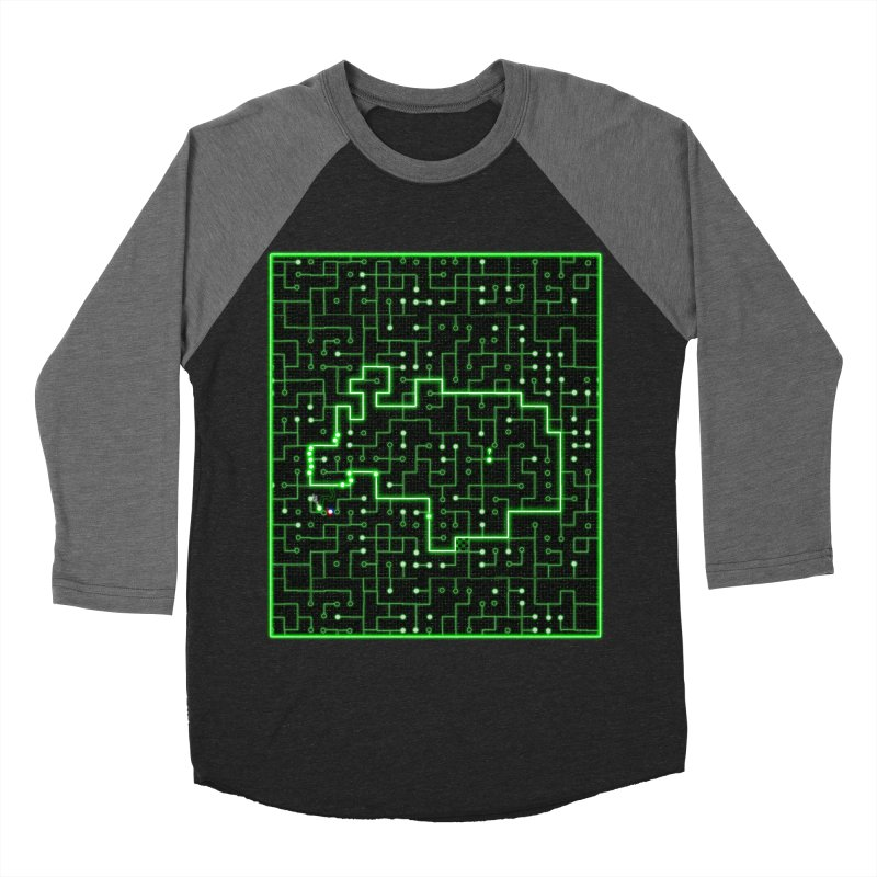 Racing Circuit Men's Baseball Triblend T-Shirt by Eriklectric's Artist Shop