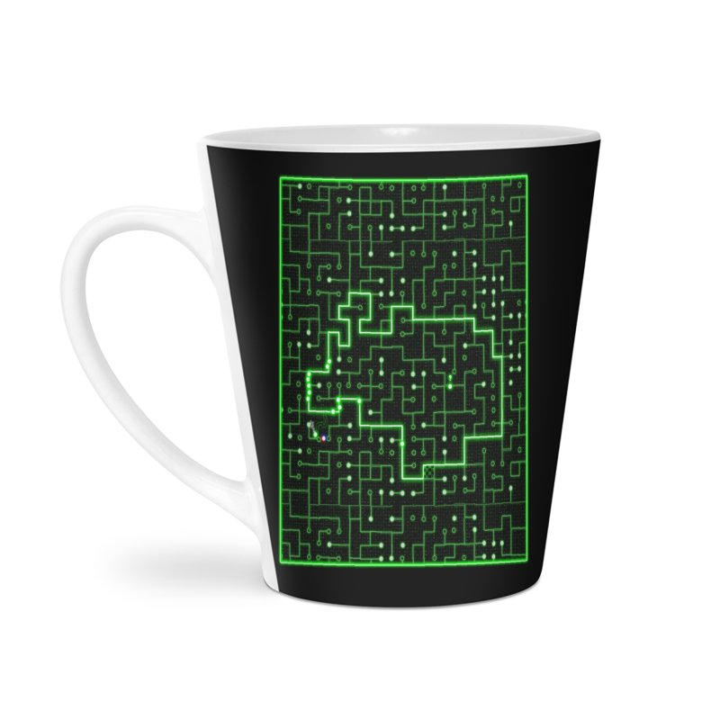 Racing Circuit Accessories Latte Mug by Eriklectric's Artist Shop