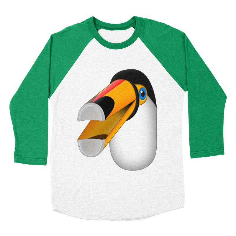 Tou-can Men's Baseball Triblend T-Shirt by Eriklectric's Artist Shop