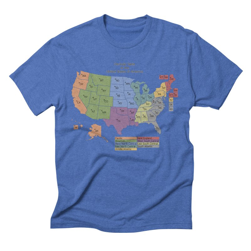 Periodic Table of the United States of America Men's Triblend T-Shirt by Eriklectric's Artist Shop