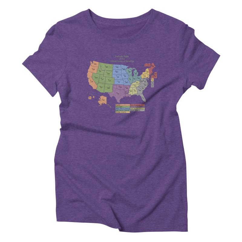 Periodic Table of the United States of America Women's Triblend T-Shirt by Eriklectric's Artist Shop