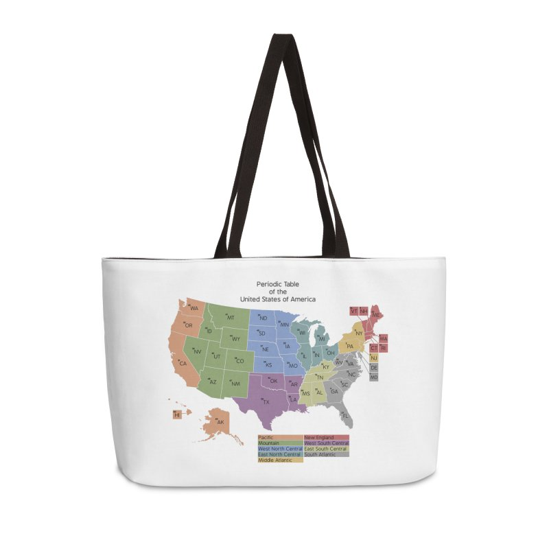 Periodic Table of the United States of America Accessories Weekender Bag Bag by Eriklectric's Artist Shop